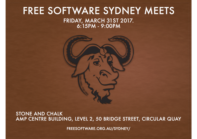 Image for Free Software Sydney Inaugural Meet 2017